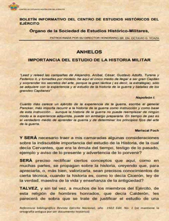 Informativo del Centro de Estudios Históricos del Ejército